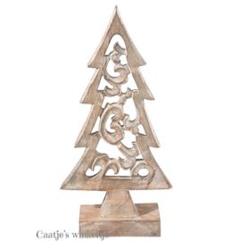 Houten decoratie kerstboom 35*19