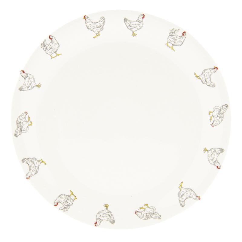 Ontbijtbord met kippen 20 cm