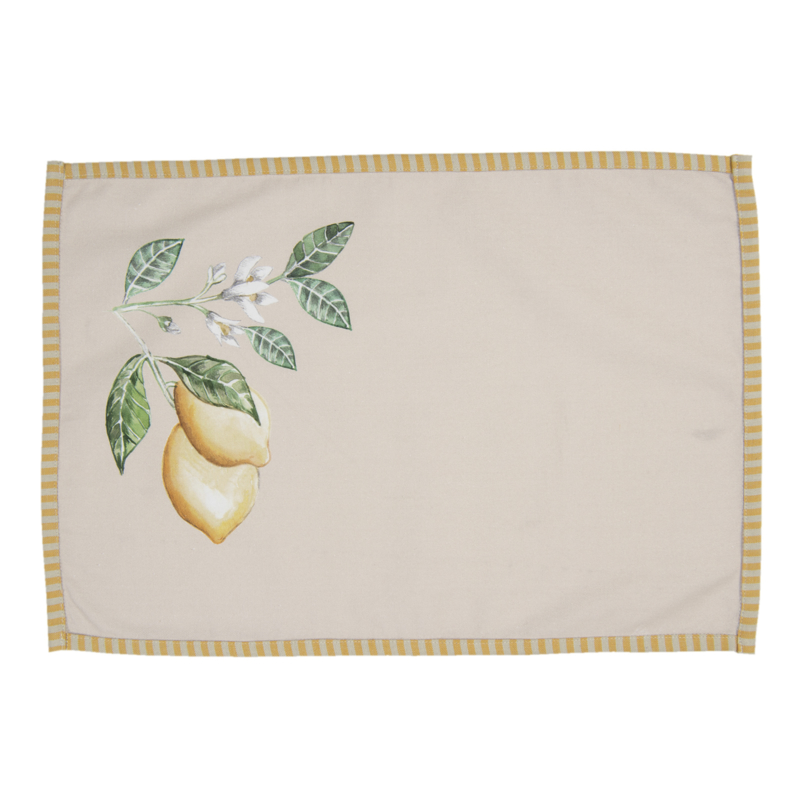 Placemats (6) Lemons and Leafs