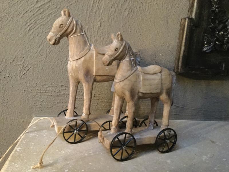 Decoratie Paard Op Wielen 15 19 Kerstdecoratie Caatje S Winkeltje