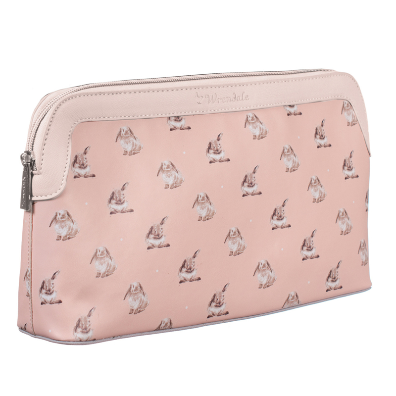 Large cosmetic bag Pink Bunny