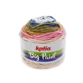 Katia Big Paint - 203 Bleekrood - Groen - Blauw