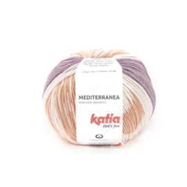 Katia Mediterranea 300 Parelmoer - Lichtviolet - Reebruin - Oranje
