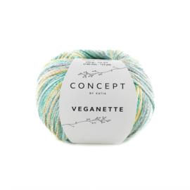 Katia Concept - Veganette 106 Smaragdroen-Citroengeel-Grijs