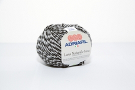 Adriafil Lana Naturale Inca - 74 Moulinet Black/White