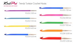 KnitPro Trendz - Tunische haaknaald verwisselbaar vanaf 5.00 mm