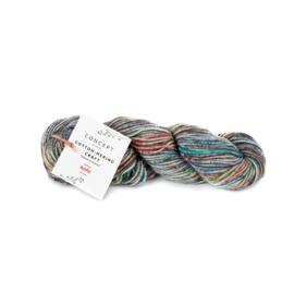 Katia Concept - Cotton-Merino Craft - 205 Groen-Rood-Grijs
