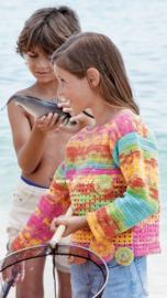 Katia Menfis Color gehaakte Kindertrui