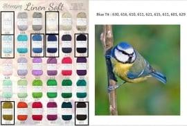 Cal 2015 Blue Tit pakket (15 bollen Linen-Soft)