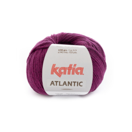 Katia Atlantic - 202 Donker fuchsia - Zwart