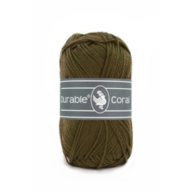 Durable Coral Katoen - 2149 Dark Olive