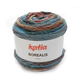 Katia Borealis - 203 Groenblauw - Beige - Roestbruin