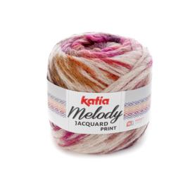 Katia Melody Jacquard Print - 503 Beige-Fuchsia-Oker