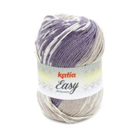 Katia Easy Jacquard - 310 Terrabruin - Beige - Parelmoer - Lichtviolet