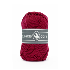 Durable Coral Katoen - 222 Bordeaux