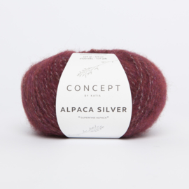 Katia Concept - Alpaca Silver - 259 Bordeauxpaars-Zilver