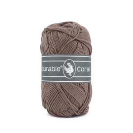 Durable Coral Katoen - 343 Warm taupe
