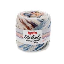 Katia Melody Jacquard Print - 505 Ecru-Blauw-Oker