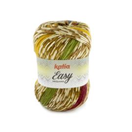 Katia Easy Jacquard - 103 Camel - Rood - Geel - Groen - Blauw