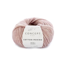 Katia Concept - Cotton-Merino PLUS 304 Donker Bleekrood