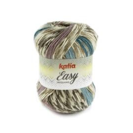 Katia Easy Jacquard - 100 Bleekbruin - Bleekrood - Groenblauw