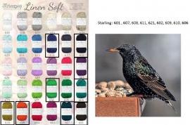 Cal 2015 Starling pakket (15 bollen Linen-Soft)