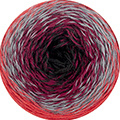 Katia Rainbow Socks - 50 - Rood-Grijs-Wijnrood