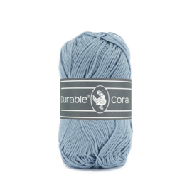 Durable Coral Katoen - 289 Blue Grey