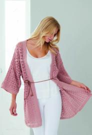 Peach Cotton gehaakte Kimonovestje
