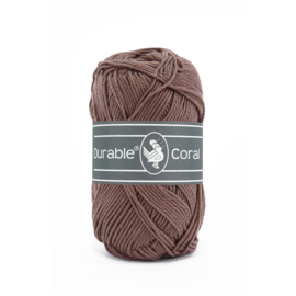 Durable Coral Katoen - 2229 Chocolate