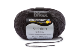 Schachenmayr Soft Mix met Baby Alpaca 00199 Schwarz Degrade