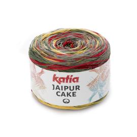 Katia Jaipur Cake - 401 Ecru - Beige - Mosgroen - Roestbruin - Maisgeel