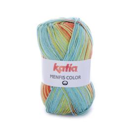 Katia Menfis Color - 107 Groen - Fuchsia - Geel - Oranje