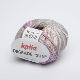 Katia Degrade Sun - 111 Zandgeel-Bleekrood-Jeans