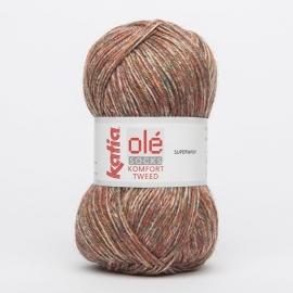 Katia Komfort Tweed - 67 Roestbruin-Groen-Geel