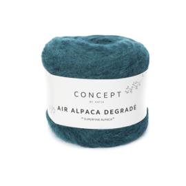 Katia Concept - Air Alpaca Degrade 66 Turquoise - Groenblauw