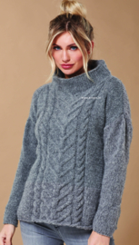 ROWAN Brushed Fleece Trui Silver