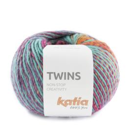 Katia Twins - 161 Oranje - Lila - Turquoise