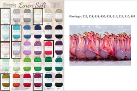 Cal 2015 Flamingo pakket (15 bollen Linen-Soft)