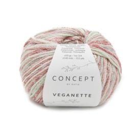 Katia Concept - Veganette 109 Bleekgroen-Bleekrood-Groen