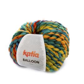 Katia Balloon - 51 Blauw - Witgroen - Rood - Geel