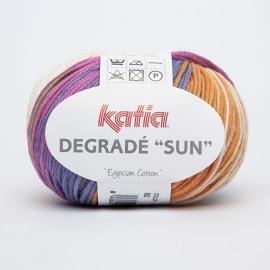 Katia Degrade Sun - 92 Ecru-Turquoise-Groen-Bleekrood-Oranje