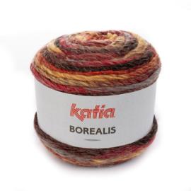 Katia Borealis - 207 Rood - Oker - Grijs - Zwart