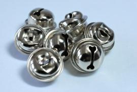 Metalen belletjes - Zilver kleurig 13mm
