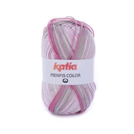 Katia Menfis Color - 102 Bleekrood - Steengrijs