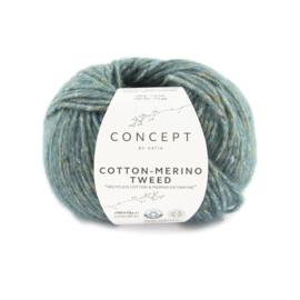 Katia Concept - Cotton-Merino Tweed 504 Donker Turquoise