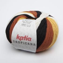 Katia Tropicana - 304 Zwart-Oker-Pasteloranje