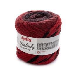 Katia Melody Jaquard - 254 Rood - Zwart