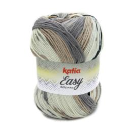 Katia Easy Jacquard - 350 Bruin - Grijs