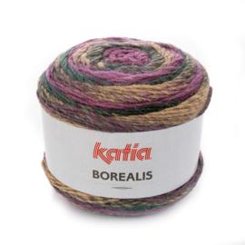 Katia Borealis - 204 Lila - Camel - Groen